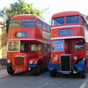 Northampton Transport Roe bodied Crossley VV9146 146 and Daimler CVG6 BHC246C 246 on the heritage open day services.