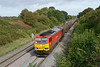 29 September 2016 ::  60054 is departing the loop at Haresfield with 6B13 from Robeston to Westerleigh