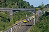 14 September 2016 :: Framed under Warren Road Bridge at Sonning. 66570 is passing with 4O35 from Daventry to Southampton
