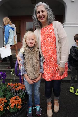 Amelia with her 4th grade teacher, Ms Colando