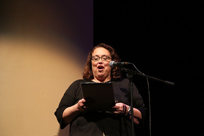 Professor of Theatre and Drama Norma Saldivar formally welcomed the audience to the evening's performance.