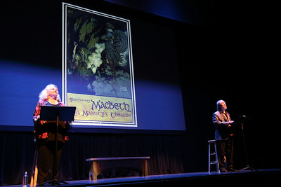 Anne Occhiogrosso (left) and Randall Duk-Kim take the stage!