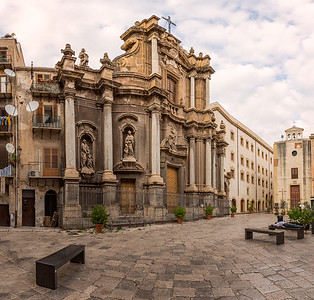 Exterior of the Chiesa di Sant'Anna la Misericordia in Palermo