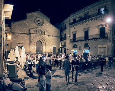 Piazza San Francesco at night