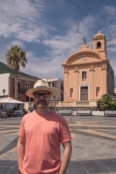 Joe in the village square