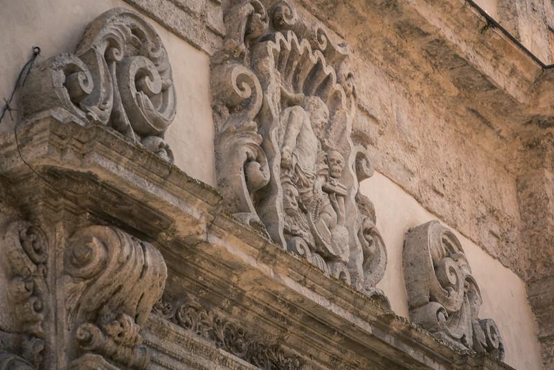Detail above a doorway in Polizzi Generosa