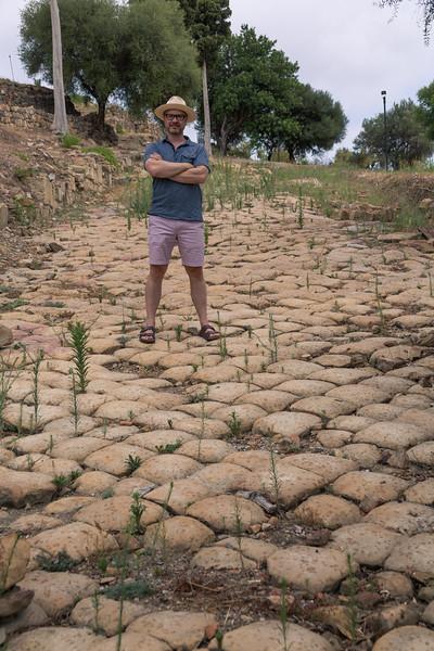 Joe on the Roman road