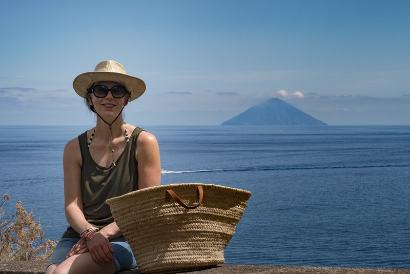 Ffi with Stromboli in the background