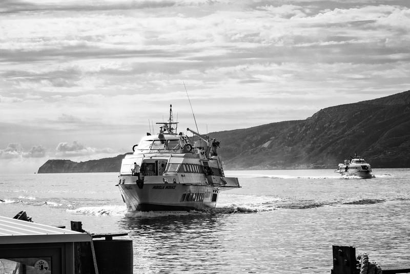 The ferry to Lipari