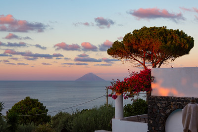Stromboli as seen from the hotel