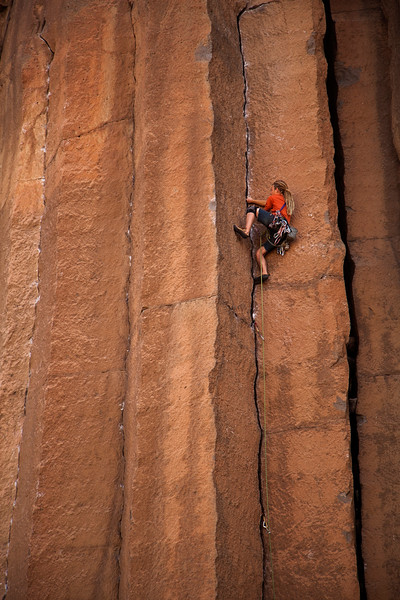 Noah hammered out an excellent and quite respectable onsight of <i>JR Token 5.10</i> for his first ever 5.10 trad lead.