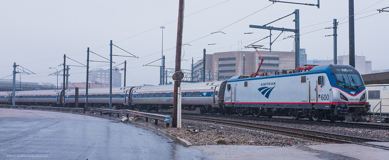Amtrak 600 on the Loop in South Boston.