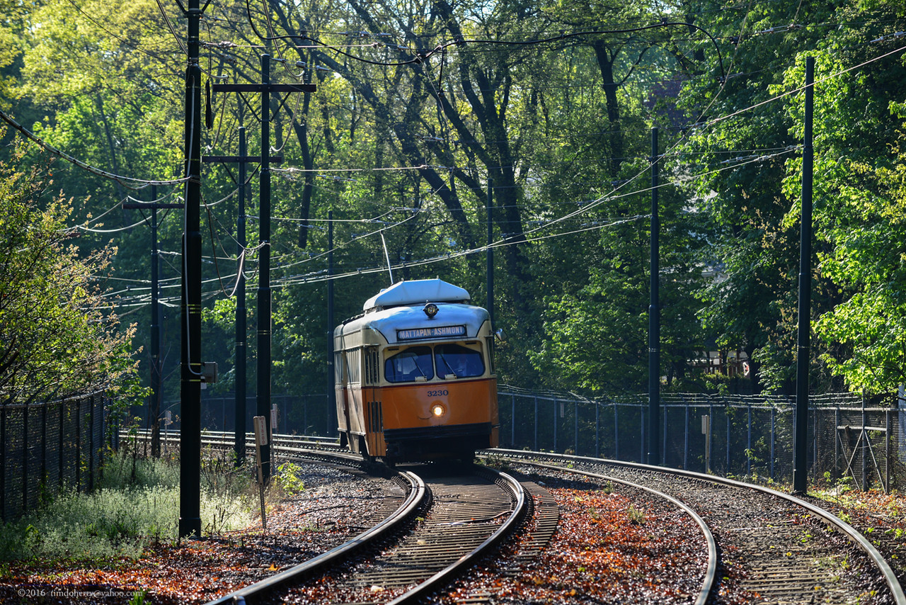 Spring on the Mattapan Line