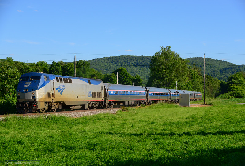The Northbound Vermonter dips into New Hampshire for 25 miles between Bellows Falls and Windsor. Charlestown, NH.