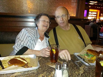 Took Grandma and Grandpa Keener to BJ's for dinner to celebrate their 50th wedding anniversary (official a week later). They came up the weekend before Spring Break for a funeral.