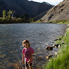 Quick break by the Salmon River, ID. Heading home
