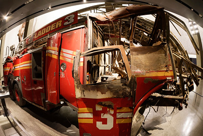 Wreckage of NYFD Ladder 3 at the 9/11 Memorial Museum