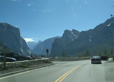 First view entering Yosemite Valley