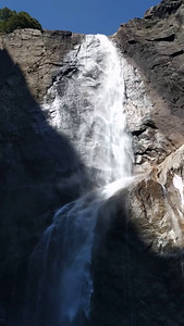 We hiked to the base of lower Yosemite Falls