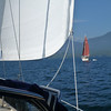 Doing some broad reaching behind our friends s/v Palarran