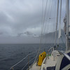 Approaching the entrance to Red Bluff Bay on Baranof Island in the fog. Thankful for our radar and chartplotter.