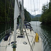 Navigating the entrance to Klaskish Basin on the west coast of Vancouver Island.