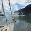 Nosing up to South Sawyer Glacier in Tracy Arm, Alaska.