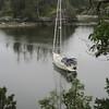 Stern tied in Smuggler's Cove.