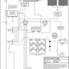 Electrical diagram (from 2009 - 100A alternator has been replaced with 55A alternator, 2kw inverter has been replaced, windlass breaker has been replaced and solar panel controller has been replaced)