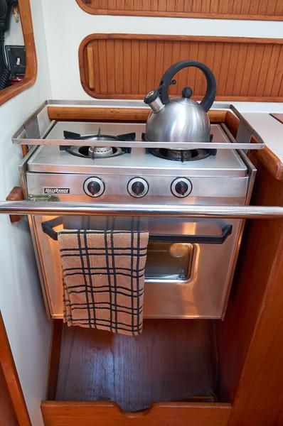 Two burner propane stove and oven