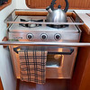 Two burner propane stove and oven