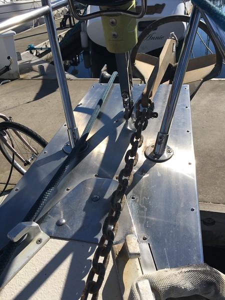 Hello World's anchor platform and 73lb Rocna