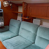Starboard settee and Dickinson diesel heater