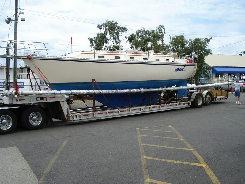 As she arrived from San Carlos, Mexico on a trailer in 2008.