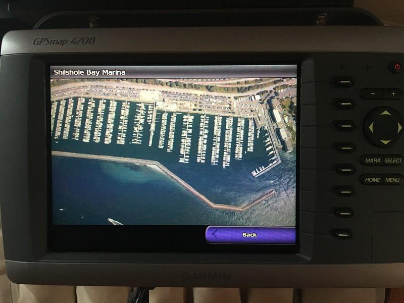 Aerial photos of marinas.