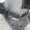 Mast partner blocking using UHMW wedges.