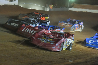 Tim McCreadie (39) blows a tire