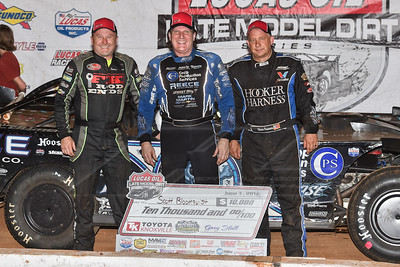 Jimmy Owens (L), Scott Bloomquist (C) and Steve Francis (R)