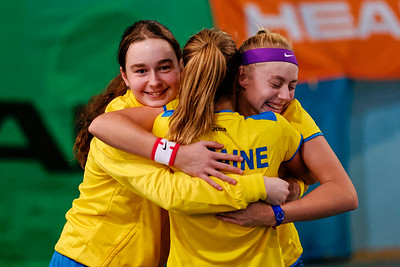 103 Happy after winning the final - Team Ukraine - Tennis Europe Wintercups final girls 14 years and under 2016