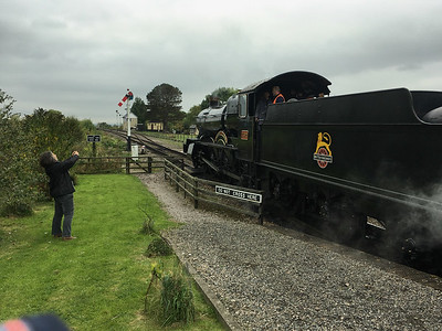 pulling out of the station at Winchcombe