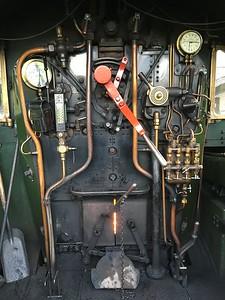 """Manor"" steam locomotive footplate"