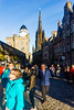 View up the Royal Mile towards Edinburgh Castle, subject of Day two
