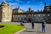 Approaching Holyrood Palace, the Queen's Scotland home