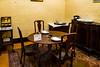 Winnie's dining room - he ate well
