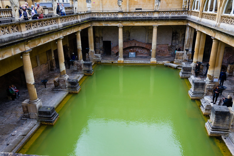 Roman Baths Main from above