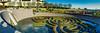 Mini-panorama of Getty Museum garden pool