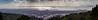 Rainy day pano of SF-Oakland from Berkeley hills