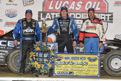 Don O'Neal (L), Scott Bloomquist (C) and Earl Pearson, Jr. (R)