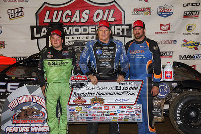 Brandon Sheppard (L), Scott Bloomquist (C) and Jonathan Davenport (R)