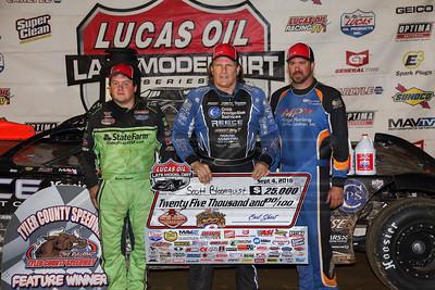 Brandon Sheppard (L), Scott Bloomquist (C) and Jonathan Davenport (R)